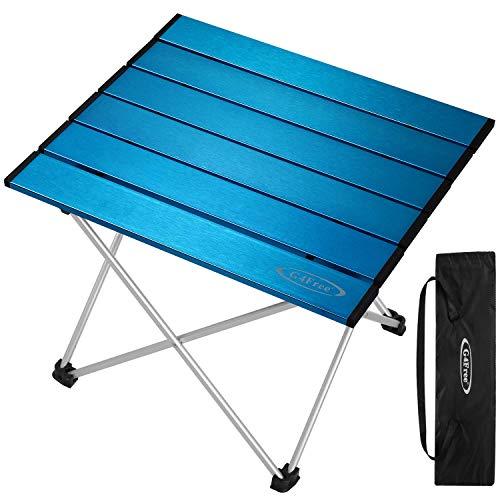 G4Free Mesa de Camping portátil y Ligera, Plegable, de Aluminio, con Bolsa de...