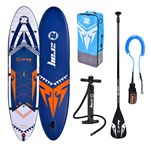 Zray Sup X-Rider 12' Stand up, Paddle, Planche, Surf, Board Adulte Unisexe, Bleu, 365x81x15cm...