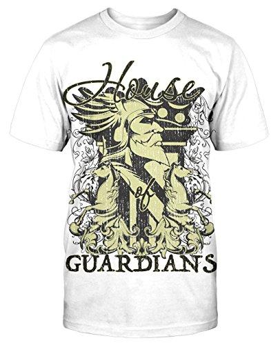 House Guardians T-Shirt neu Wikinger Germanen Odin Thor Götter Kult Fun Retro Weiß