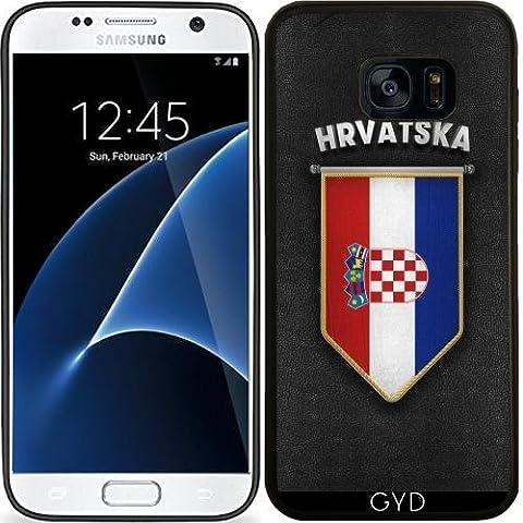 Coque Silicone pour Samsung Galaxy S7 (SM-G930) - Croatie Fanion à Haute Qual by Carsten Reisinger