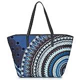 Desigual BLUE FRIEND SICILIA Shopper femmes Schwarz/Blau Shopper/Einkaufstasche