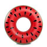 Flotador inflable de la piscina de la sandía, juguetes inflables divertidos de la fiesta de la piscina Tumbonas recreativas de la playa al aire libre Raft Lake Ride-ons para los adultos y los niños (rojo)