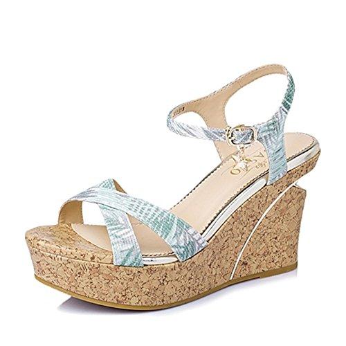 Sommer-calico Mit High Heels/Wedges Damen Sandalen A
