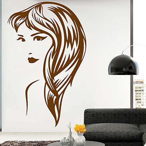 Ajcwhml Adesivi murali Staccabili Femminili Decorazioni per la casa Soggiorno Accessori Camera da Letto Adesivi artistici in Vinile Poster da Parete Impermeabile Marrone 58 cm X 92 cm
