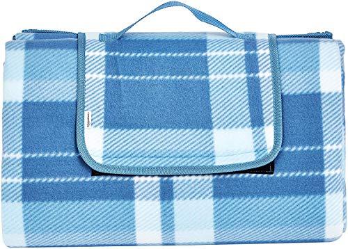 AmazonBasics - Picknickdecke, campingdecke mit wasserdichter Unterseite, 200 x 200 cm