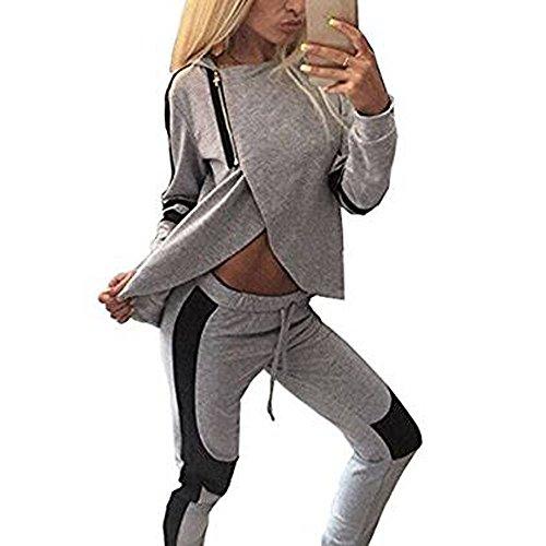ZEARO Frauen Sport Freizeit-Set Sweatshirt Jogging Hose Jogginghose   EU 36/(Asian M)