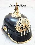 HistoricalMuseumStore Deutsche Pickelhaube Hessen Bayerische Helm ersten Weltkrieges Leder Replica Preußische Helm