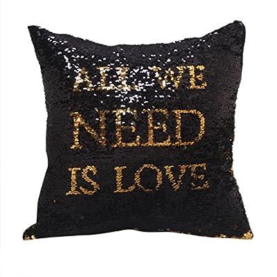 Cushion Longra ! ! Unique Beautiful Flashing Sequins Pattern Decoration Square Pillow Case Cushion Cover * ! (45cm*45cm) - low-cost UK light shop.