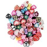 BrilliantDay 50 Piezas 3d Carino clavo de arte Cañas de Fimo palo pegatinas caras del gel Decoración del Manicura #7