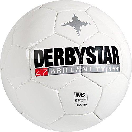 Derby Star Brillant TT Top di palloni da calcio bianco, misura: 4
