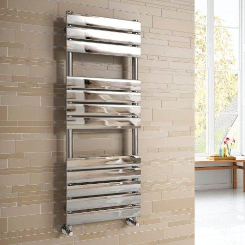 Soak Flacher Design-Badheizkörper - Handtuchheizkörper für das Badezimmer - 120 x 45 cm, verchromt