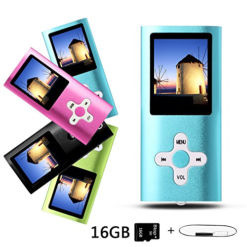 MP4-Player, Musik-Player, tragbarer 1,7-Zoll-LCD-MP3 / MP4-Player, Media Player 16 GB-Karte, Mini-USB-Port USB-Kabel, Voice Recorder Media Player - Blau01 (Mp3 Musik-media Player)