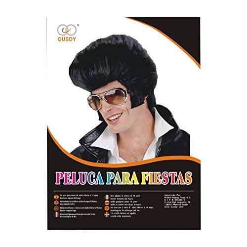 Ousdy Peluca de Elvis Presley 691739   Negro