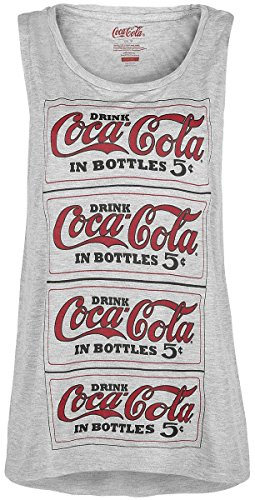 Coca Cola Logo - Repeat Top donna grigio sport S