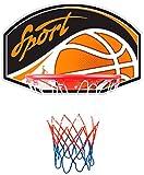 New Plast CB1610 - Canestro da Basket Sport con Pallone, Diametro 38.5 cm