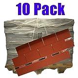 10er Pack Dachschindeln Rechteck Rot 10x 3 m² = 30 m²