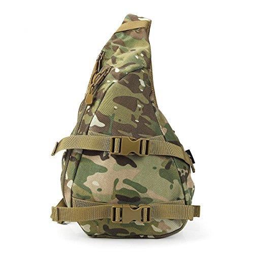 BULAGE Taschen Sport Outdoor Schulter Tasche Freizeit Brusttasche Lässig Atmungsaktiv Und Bequem Tragbar Kompakt Tornister Picknick Camouflage