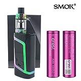 Authentique SMOK ALIEN (Noir/Arc en ciel) 220W avec TFV8 BABY Atomiseur et 2X 18650 3000 mAh Efest Batterie Sans Tabac Ni Nicotine Cigarette Electronique