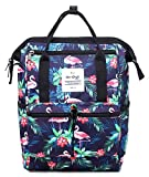 HotStyle DISA Fashion Blumen Damen Laptop Rucksack 12 Zoll (35x23x15cm) - Tropisch Flamingos