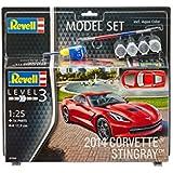 Revell Model Set - 67060 - Maquette - Corvette C7 Stingray 2014 - Jaune - Échelle 1/25 - 56 pièces