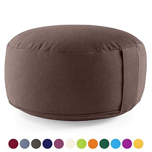 Meditationskissen /Yogakissen LOTUS - Bio-Baumwolle (kbA) - GOTS zertifiziert - Sitzhöhe: 15cm