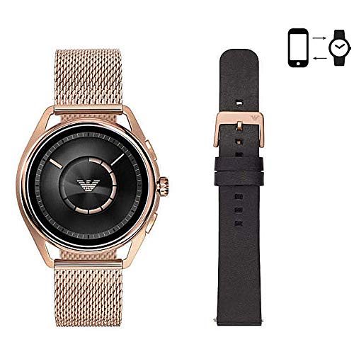 Emporio Armani Mens Digital Connected Wrist Watch with Stainless Steel Strap ART9005