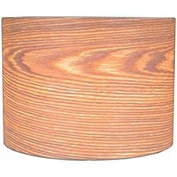 Woody–Chapa de madera (mimbre) de pantalla para lámpara de mesa, de pie y lámparas colgantes H: 22cm