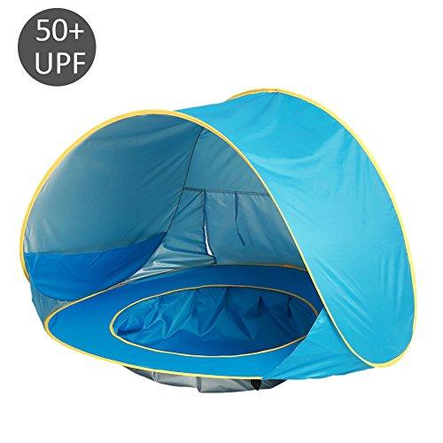 Salon Styler Haarbürsten Baby Strand Zelt mit Pool, 50+ SPF Pop Up Shade Pool UV Schutz Beach Sun Shelter mit Tragetasche, tolles für Baby