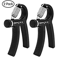 FengXun Unisex's Adjustable Hand Grip Gripper, Black, 10-40kg