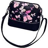 Toraway Las mujeres Estilo retro del bolso de hombro de la flor pintada de la impresión bolso de cuero Bolso Mensajero