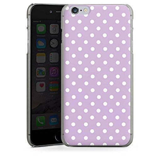 Apple iPhone 5 Housse Étui Silicone Coque Protection Points Lilas Polka CasDur anthracite clair