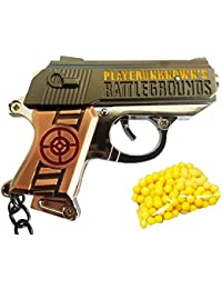 Gamers Gaming Fully Metal Gun With Bullets Keychain/Keyring
