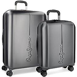 Pepe Jeans Cambridge Juego de maletas, 115 litros, 70 cm, Gris