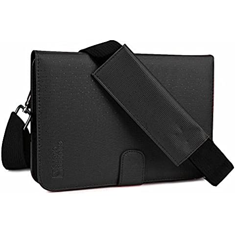 Samsung Galaxy Tab Active / LTE custodia, COOPER MAGIC CARRY II PRO Custodia Protettiva a libro da viaggio per tablet con manico, Tracolla e Supporto Integrato (Nero)