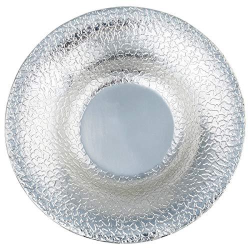 KYEYGWO Vintage Metall Getränk Untersetzer Dekorative Platte Tischsets Kerzenhalter Teetasse Set, 3er Set Silber Runde -