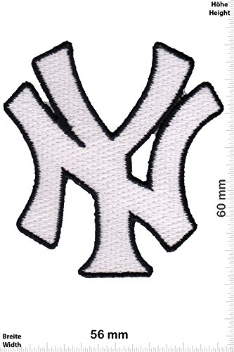 Baseballs Mlb Team (Patch-Iron-New York Yankees - USA Major-League-Baseball-Team - weiss - Motorsport - Sport - Sport USA - - Iron On Patches - Aufnäher Embleme Bügelbild Aufbügler)