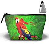 Painting Splash Parrot Bird Colorful Travel Cosmetic Bag Portable Makeup Pouch...