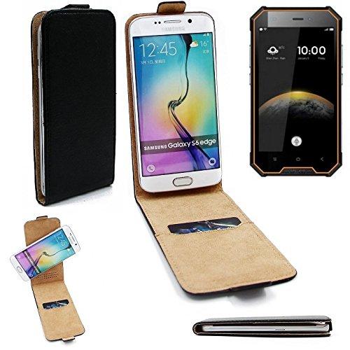 K-S-Trade® Für Blackview BV4000 Pro Flipstyle Schutz Hülle 360° Smartphone Tasche, Schwarz, Case Flip Cover Für Blackview BV4000 Pro