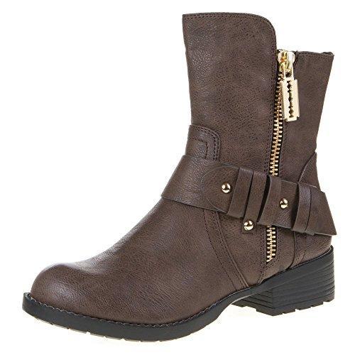 Damen Schuhe, B237, STIEFELETTEN Braun
