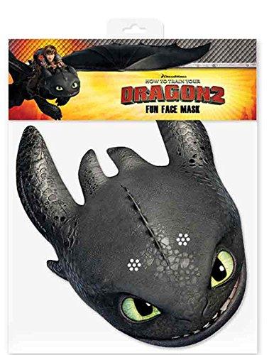 Toothless How to Train Your Dragon - Careta de cartón satinado (30 x 20 cm, tira de goma)
