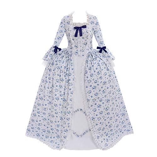 Cosplayitem Renaissance Rokoko Kostüm Kleid Viktorianisch Lang Blumen Kleid