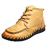 UFACE Damen Schnürschuhe Einfache Leder-Single-Schuhe Casual Soft Bottom Schuhe