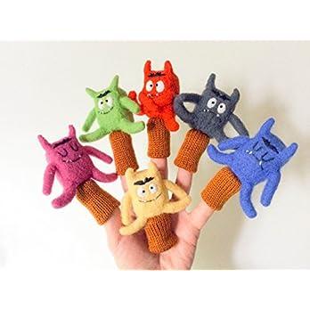 Lerne Farben und Emotionen 6 Finger Wollpuppen