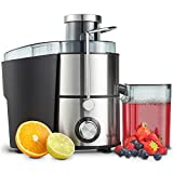 VonShef 400W Juicer Machine - Whole Fruit and...