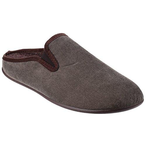 Imbottite Nere Mens Stile Cotswold Pantofole Matson Mocassino Elasticizzati zWadYdg7q0