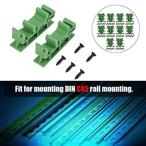 - Schienen-montage (Hutschienen Adapter Set,Jectse 10 pcs PCB DIN C45 Schiene Adapter,Montage für DIN C45-Schienenmontage,zum Sichern und Halten von Leiterplatten- oder elektronischen Schaltgeräten)