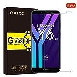 QULLOO Huawei Y6 2018 Verre Trempé Protecteur d'écran, Huawei Y6 2018 Film Protection en Verre trempé écran Protecteur Ultra résistant Glass Screen Protector pour Huawei Y6 2018