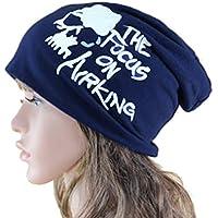 THENICE Unisex Skull Cappello Beanie Cuffia Berretto Cap (Blu marina)