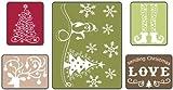 Sizzix Textured Impressions Prägefolder 5–Sending Christmas Love Set von Rachael Bright