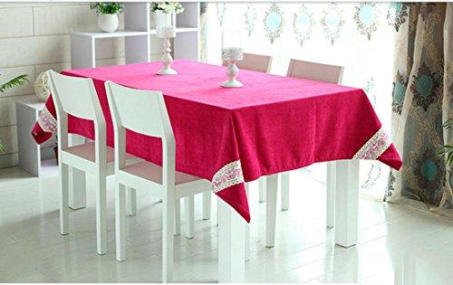 New One Day-rosso tovaglia moda panno tavolo rettangolare tè pastorale colore solido , 140*220cm